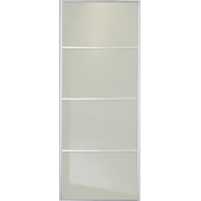 "SOFT WHITE GLASS SLIDING WARDROBE DOOR 4 PANEL 914mm (36"")"